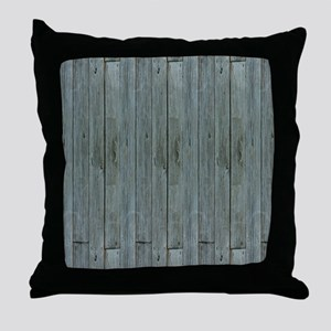 nautical teal beach drift wood  Throw Pillow